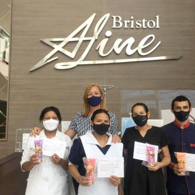 Colaboradores Bristol Aline: Quitéria, Talita, Josiléia e Joelson.